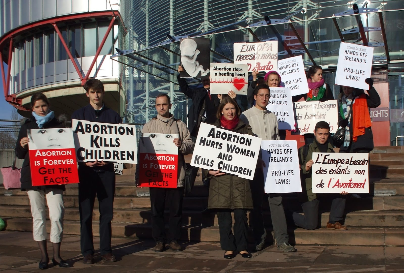 Pro-life supporters in Belfast
