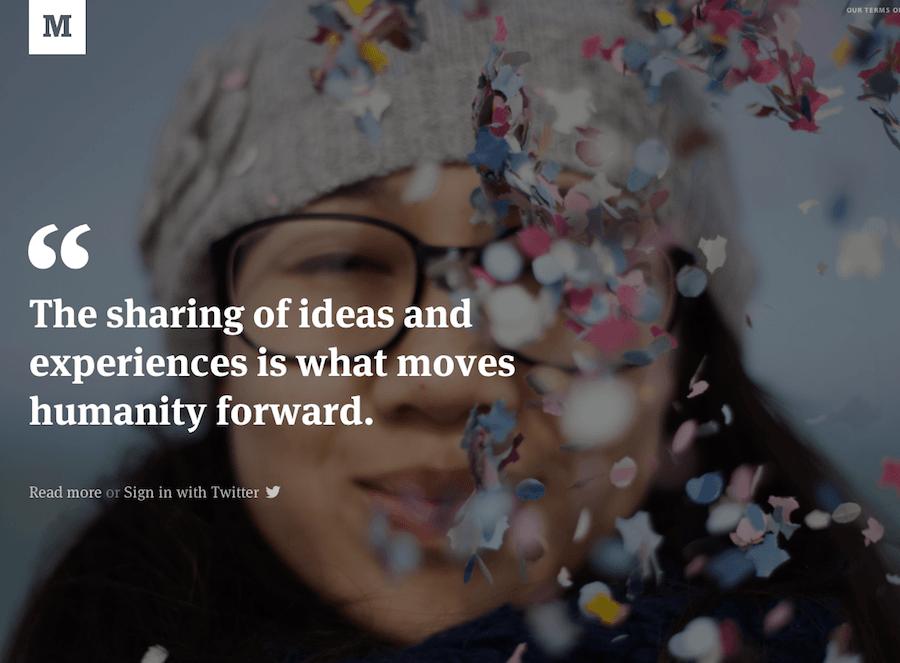 Medium.com: La dernière création des fondateurs de Twitter