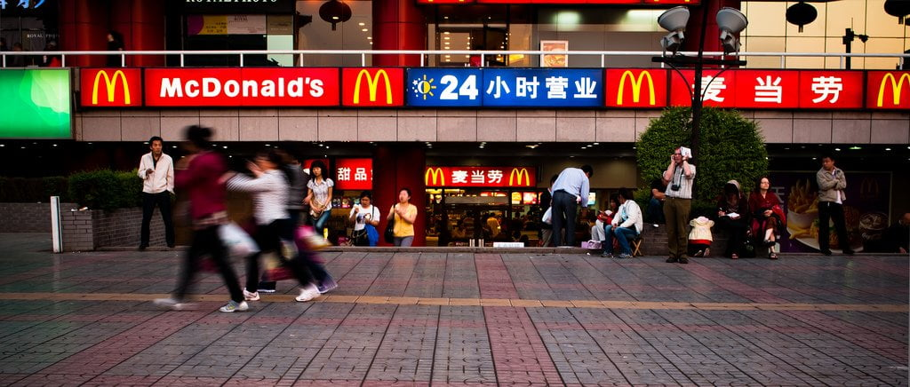 China with McDonalds, Now Open 24 Hours -- Aidan Whiteley © Flickr