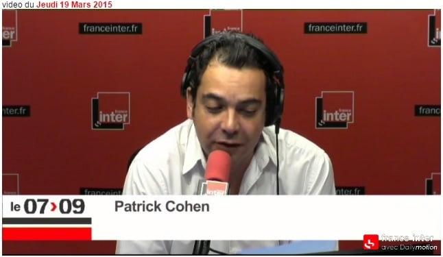 Patrick Cohen lors du 7-9 de France Inter