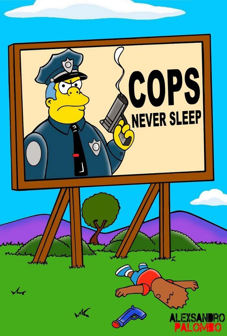 The-Simpsons-Black-Eric-Garner-Statue-of-Freedom-Homer-Simpson-Marge-Bart-Lisa-Clancy-Bill-De-Blasio-Police-Stop-Racism-12-731x1080