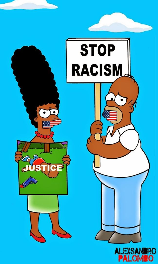 The-Simpsons-Black-Eric-Garner-Statue-of-Freedom-Homer-Simpson-Marge-Bart-Lisa-Clancy-Winchester-Policeman-Bill-De-Blasio-Police-Stop-Racism-Racist-I-cant-Breath-Art-Campaign-Artist-aleXsandro-Palombo-3-648x1080