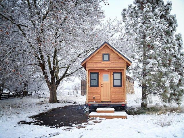 Tiny house snow