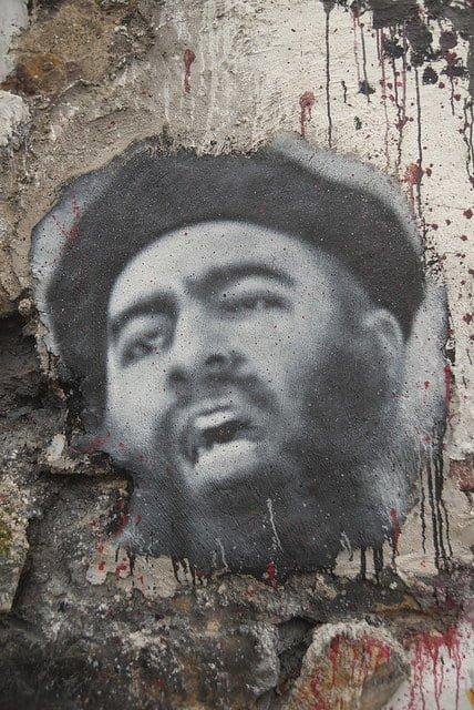 © Flickr / Thierry Ehrmann Portrait d'Abu Bakr Al Baghdadi