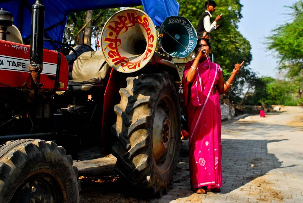 Une femme de la région de Bundelkhand protestant contre les abus sexuels - © Flickr