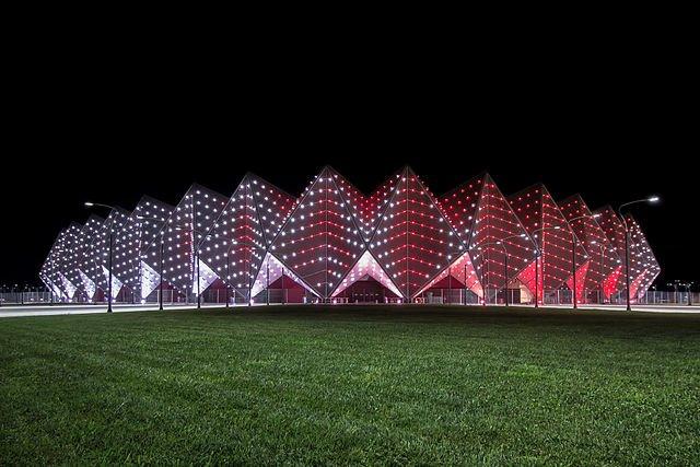 Le Crystal Hall de Baku, complexe érigé pour l'eurovision 2012, va accueillir des rencontres sportives des Jeux Européens. © Arne Museler