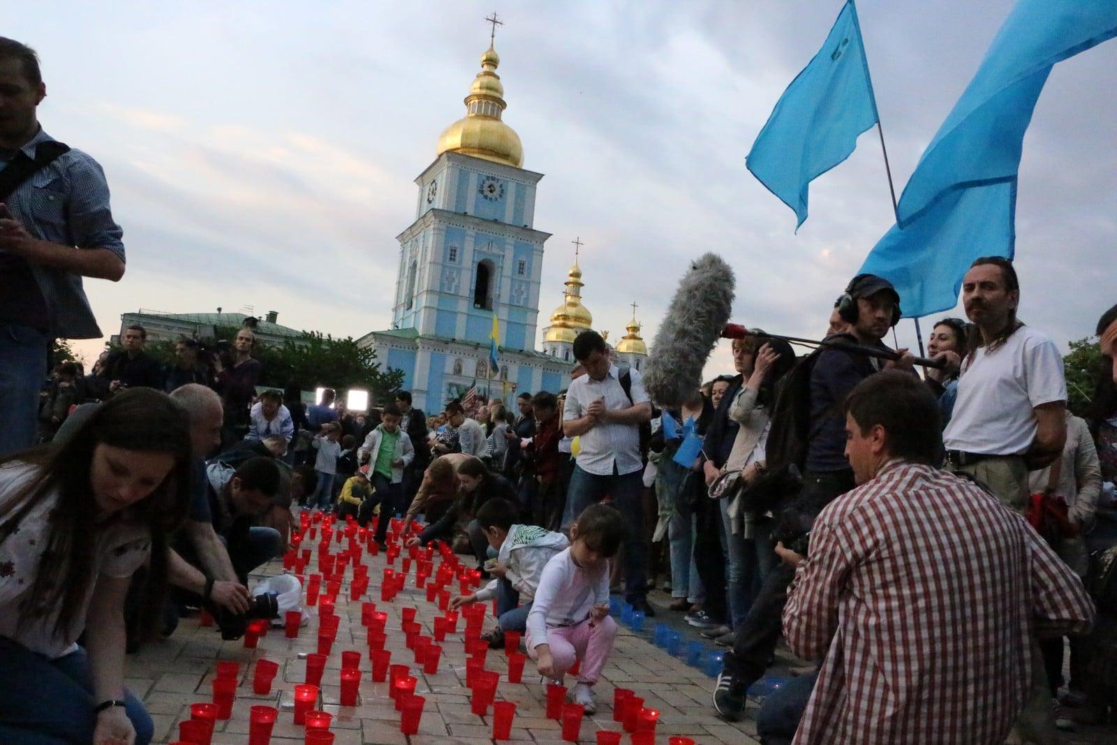Commémoration à Kiev lors du 70ème  anniversaire de la déportation  © Google
