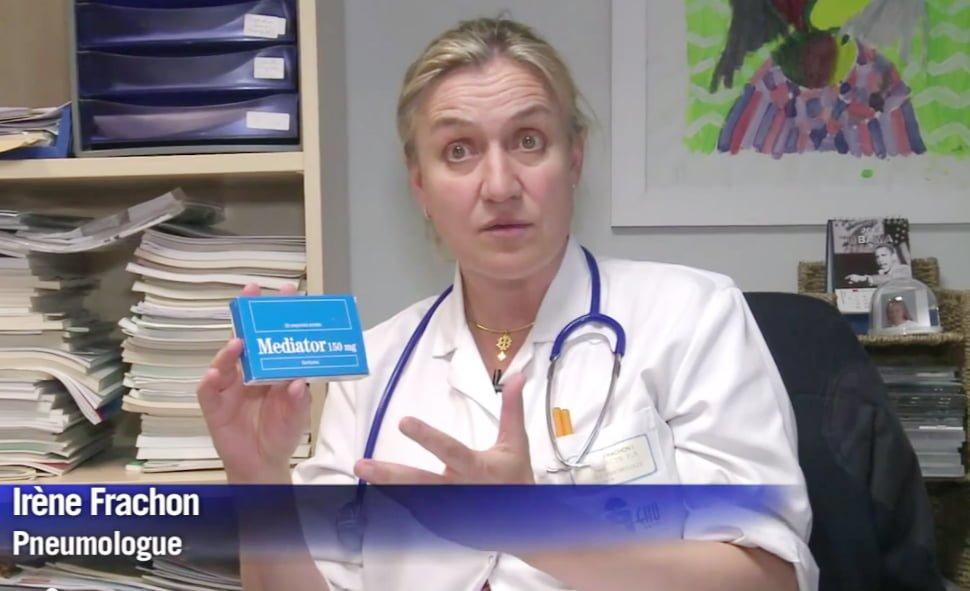 Irène Frachon, copie d'écran de la vidéo AFP « Procès Mediator : les victimes espèrent voir Servier condamné »