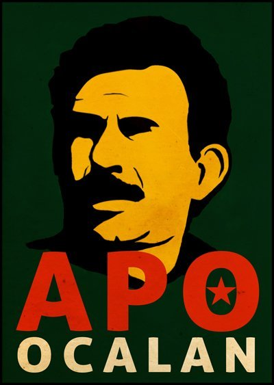 Portrait du leader-fondateur du PKK, Abdullah Öcalan